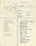 The Amplifier - v. 1, no. 2 by Associated Students of the Montana School of Mines