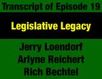 Transcript for Episode 19: Legislative Legacy: 1972 Constitution Brings Legislature Closer to the People