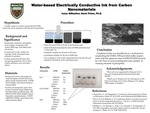 Water-based Electrically Conductive Ink from Carbon Nanomaterials