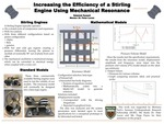 Increasing the Efficiency of a Stirling Engine Using Mechanical Resonance